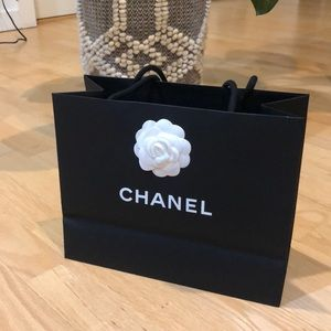 Chanel shopping paper bag
